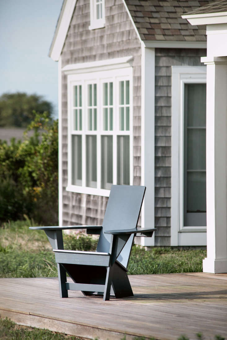 A single Outermost Adirondack Chair in Dock Gray.
