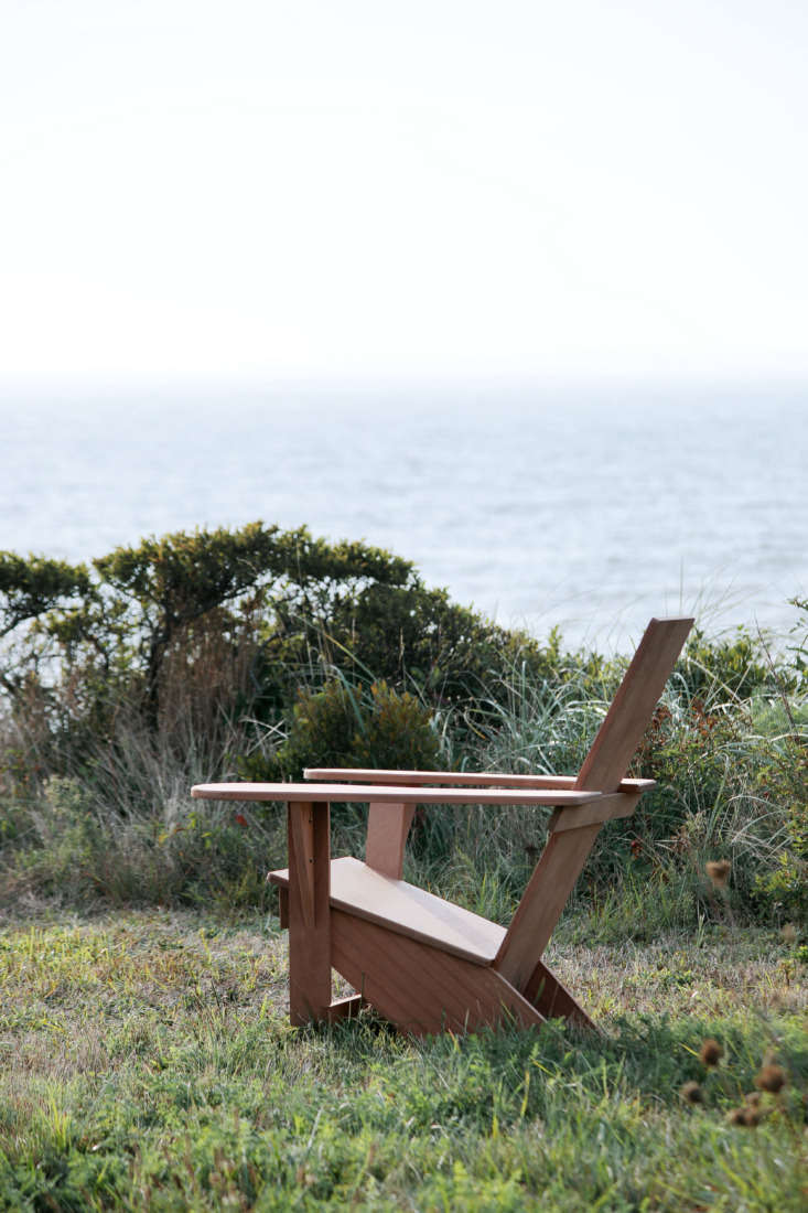 And Outermost Chair in mahogany provides a perfect spot for enjoying the view.