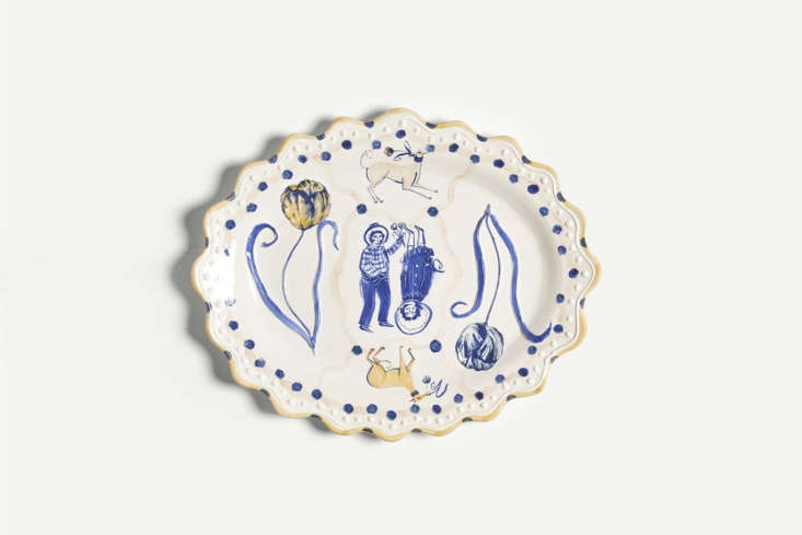 Alexa&#8\2\17;s dream-big wish list includes this Tulip and Whippet Romantic Platter, decorated with cobalt oxide on earthenware; it&#8\2\17;s £7\20 at The New Craftsmen. See Holiday Gift Guide \20\19: When Price is No Object for more ideas.