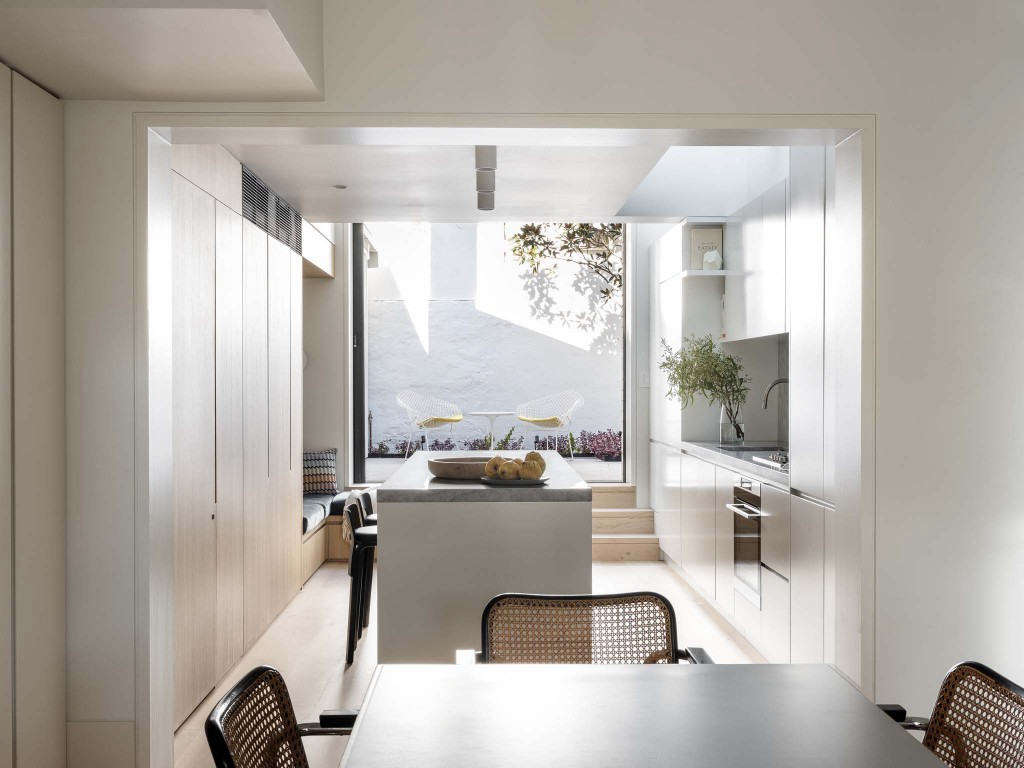 When glamour resides in a tiny footprint, it feels much more approachable. For proof, see Narrow Escape: Thoughtful Storage and Design in an Architect's Small Home. Photograph by Tom Ferguson, courtesy of Porebski Architects.