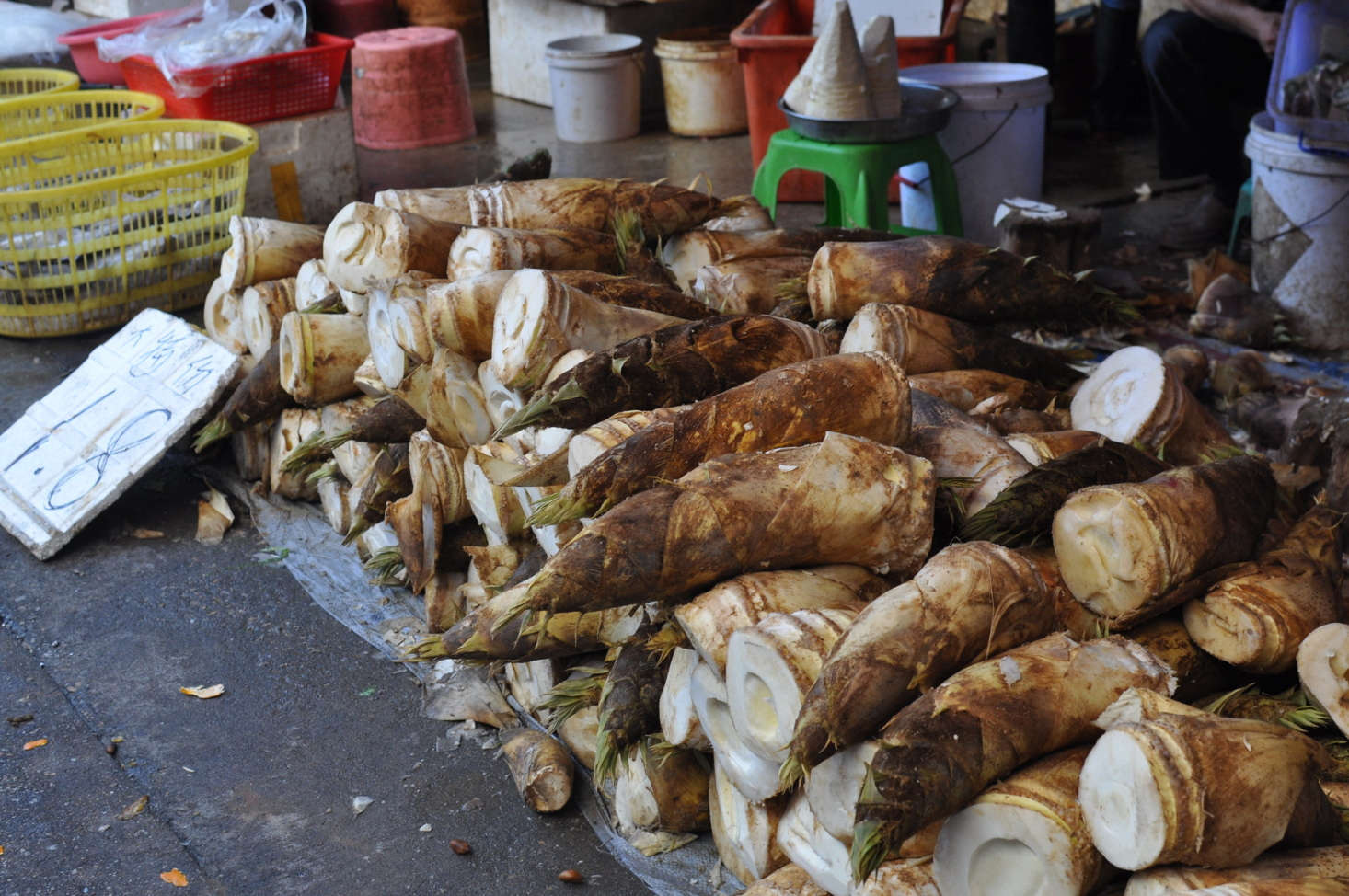Bamboo shoots for sale at a market in Xiamen, China. Photograph by Scott Edmunds via Flickr.