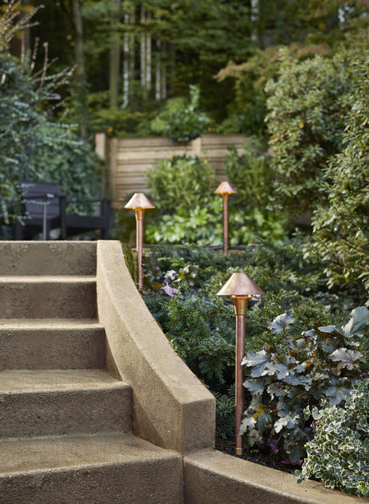 Don't forget the garden. Rejuvenation also offers landscape lighting, like these Quimby LED Path Light Sets ($9 for a set of three), which helps showcase hardscaping and landscape features. Line a path or patio for a particularly festive feel.