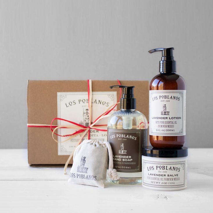 Perfect for the mom who has a thing for lavender: Los Poblanos&#8\2\17; Lavender Gift Set (we especially love the lavender salve, a necessity for dry gardening hands); \$64.