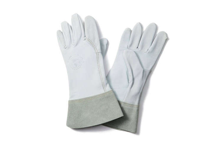 Womanswork&#8\2\17;s Gardener Gloves, made from soft goat skin leather (the cuffs are cow leather), are an affordable luxury; \$45 at goop.