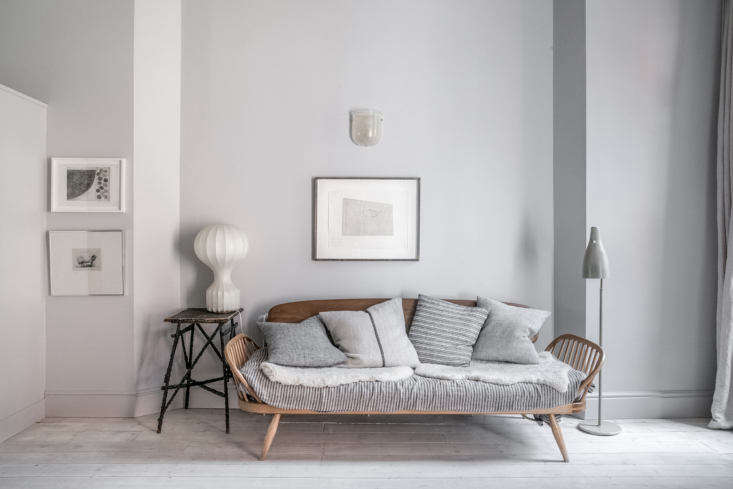 Design aficionados, rejoice: Faye Toogood gives us a peek into the three-bedroom apartment she shares with her husband and three kids. Photograph by Taran Wilkhu, courtesy of The Modern House, from Design Luminary Faye Toogood's Family-Friendly Minimalist Apartment.
