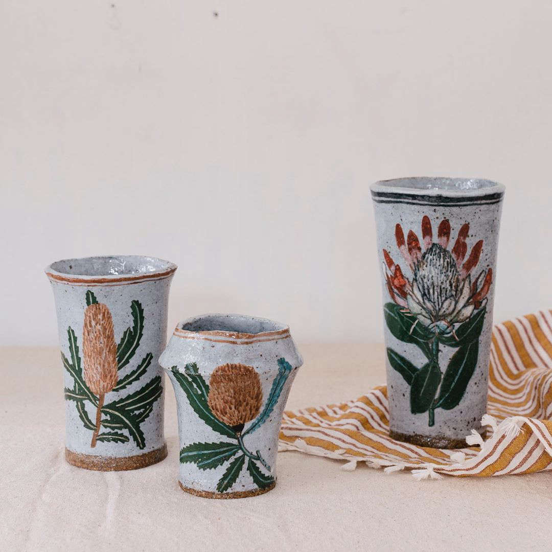 Disarmingly charming hand-painted pottery from a fine artist in Southern California. See Functional Art: Hand-Painted Ceramics by California Artist Rebekah Miles.