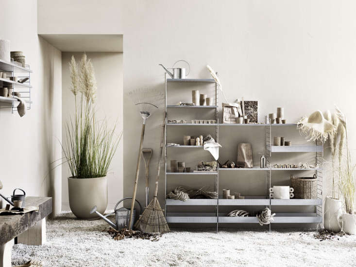 Indoor-Outdoor Shelving: The Iconic String System Now in Galvanized Steel