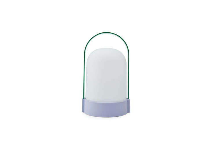 The Uri Portable Table Lamp, a MoMA Design Store exclusive, comes in three colorways (shown is green/purple combination); $50.