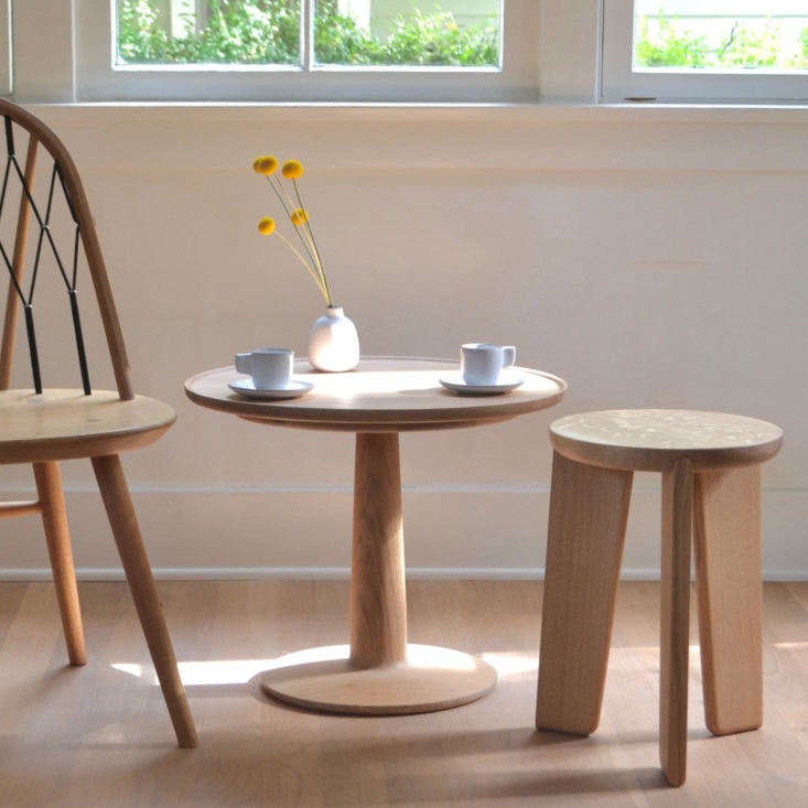 A trio of oak works by Summer Studio, a new-to-us workshop in LA making wood furniture with clean lines. Photograph courtesy of Summer Studio, from Summer Studio: Understated Wood Furniture by Architect-Turned-Woodworker Jack Sasaki.