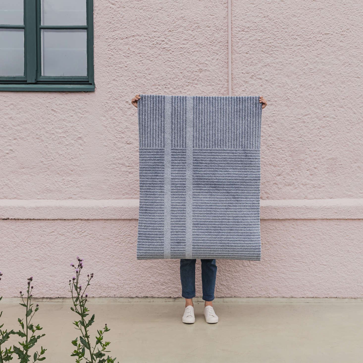Made by Heymat of Oslo, Norway, the Løype doormat is composed of recycled plastic and heavy enough so that the corners won&#8