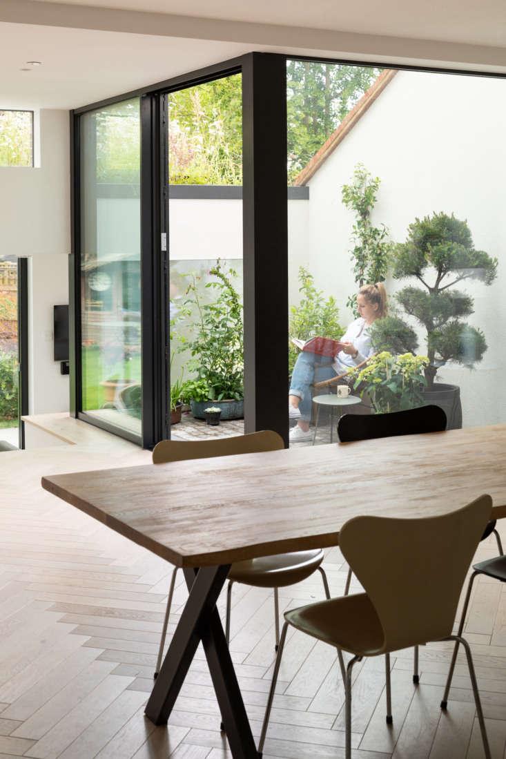 The courtyard offers easy indoor-outdoor living.