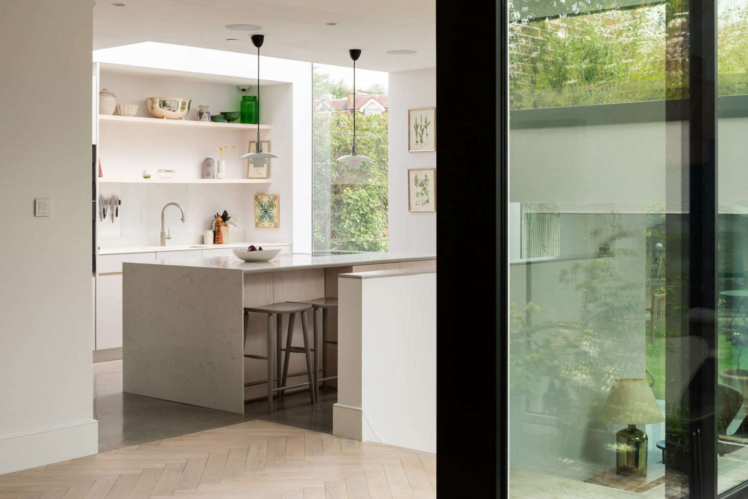 Every window in the extension welcomes the outdoors in.