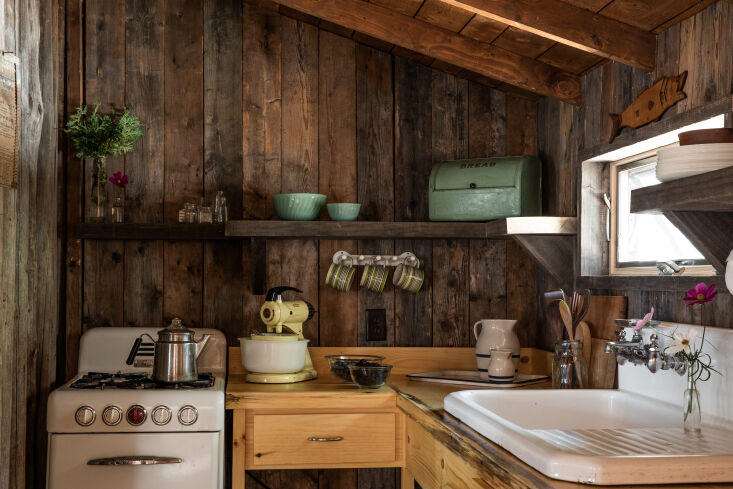 When the bread box is as sweet as this one, it&#8\2\17;s worth displaying. Photograph by Greta Rybus for Remodelista, from Rock Camp: A Classic/Minimal Lake Cabin in Maine by an Up-and-Coming Architect.