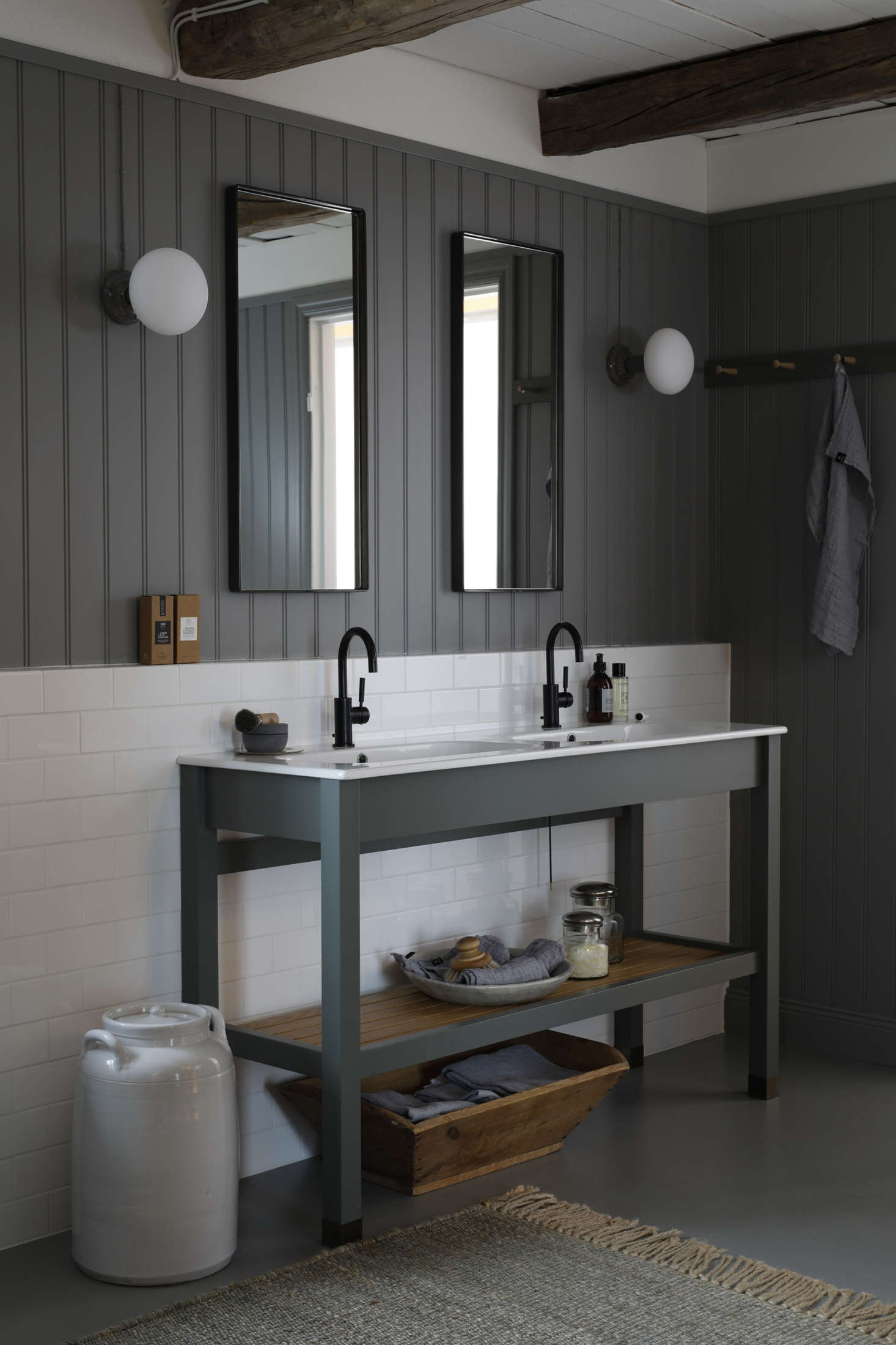 This Dream Dressing Room from Sweden is also a dream bathroom. Photograph courtesy of Kvänum.