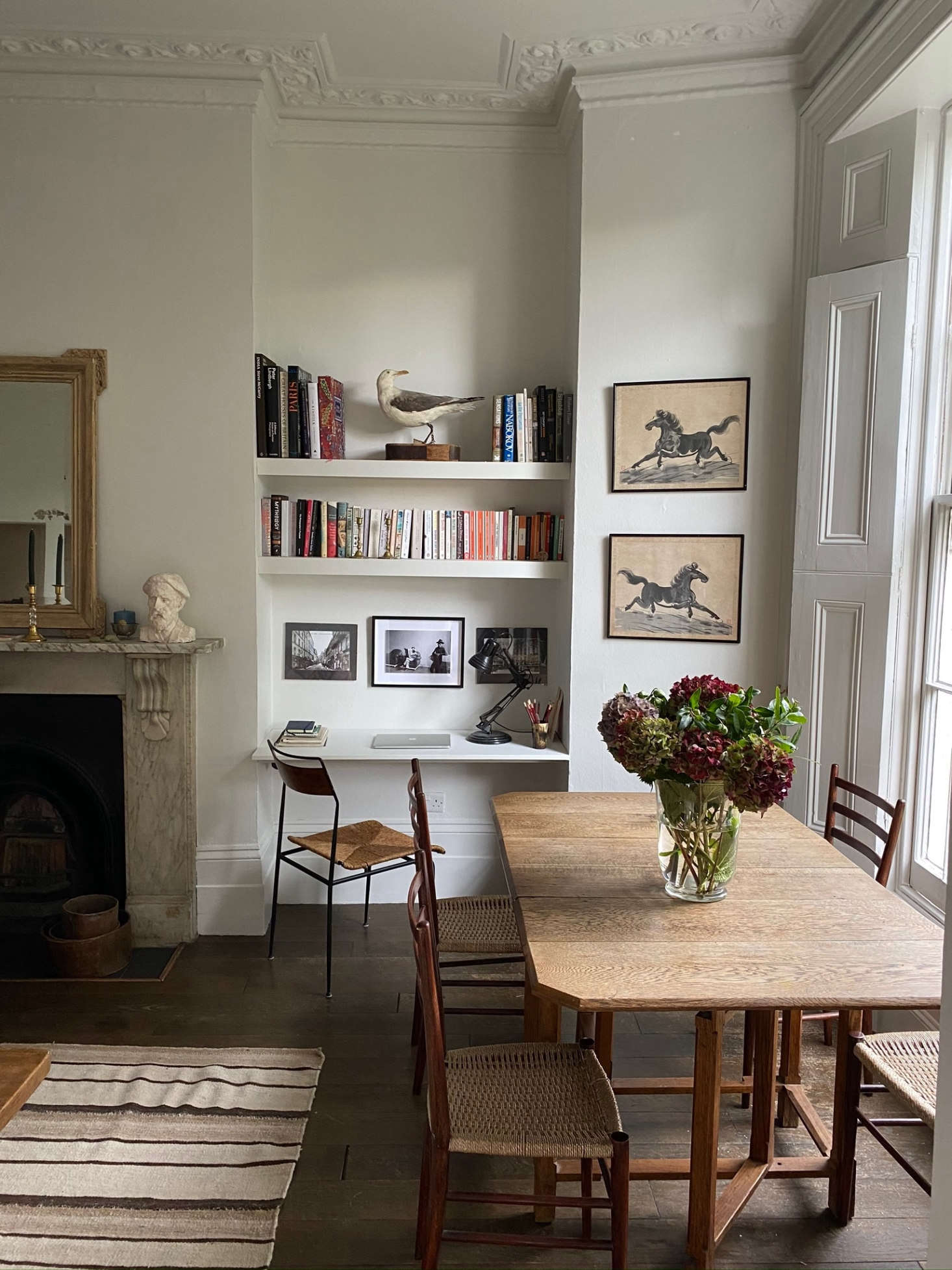 This small, bright London apartment feels like a sanctuary. Photograph by Georgie Stogdon, from Respect for the Old: In a Tiny London Flat, Antiques, Vintage Finds, and Charm to Spare.