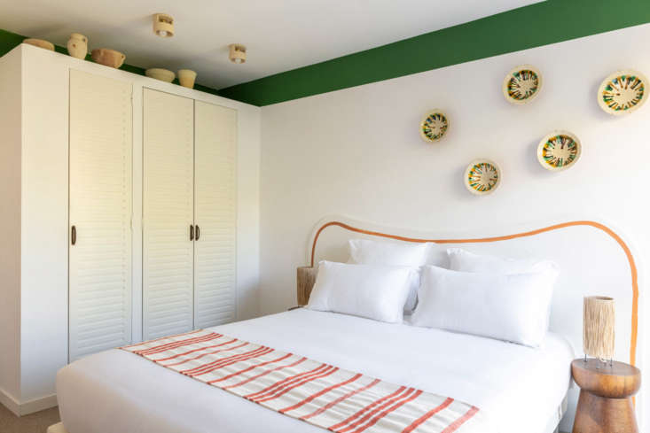 Bright and cheery. See Let There Be Light: Hotel Le Sud in the South of France, a Guesthouse Inspired by Picasso.