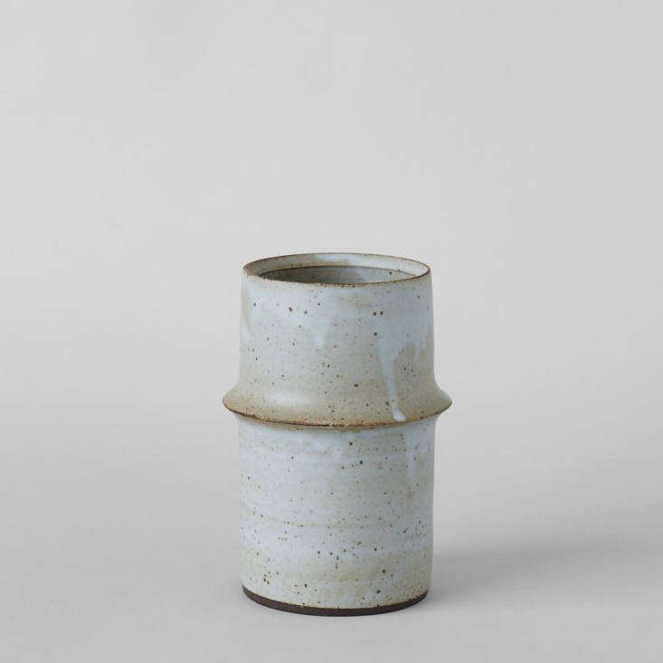 Bob Dinetz&#8\2\17;s Ridge Pistachio Vase is an especially beautiful receptacle for fresh-cut blooms; \$\188 at Bloomist.