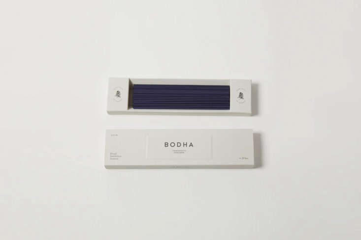 From Remodelista Gift Guide : Gifts for the Home Fragrance Snob: TheBodha Calm Incensehas a gentle fragrance and smokeless burn. Made in Japan using traditional methods, the incense is $3