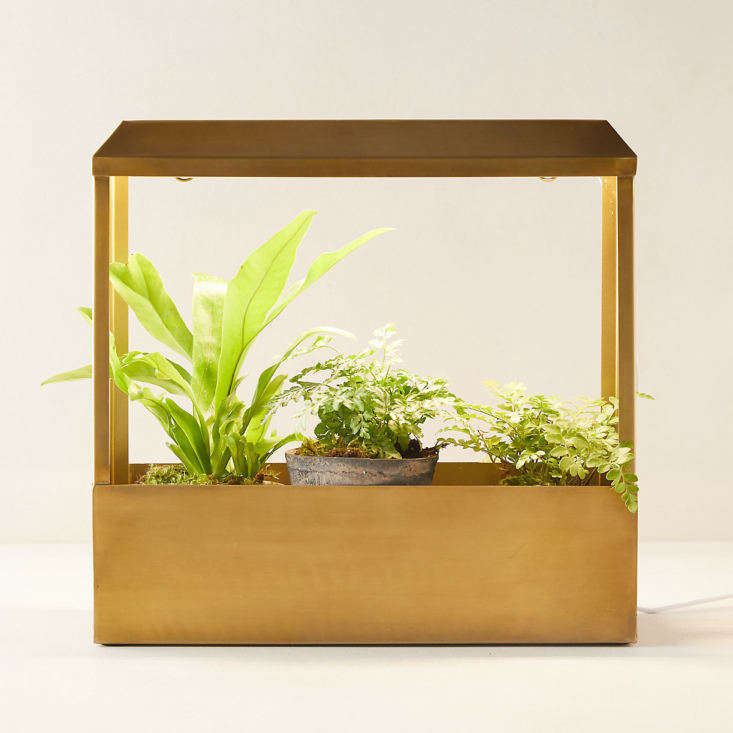 Make year-round gardening a possibility with the Brass Grow House, featuring two LED light strips; $0 at Terrain.