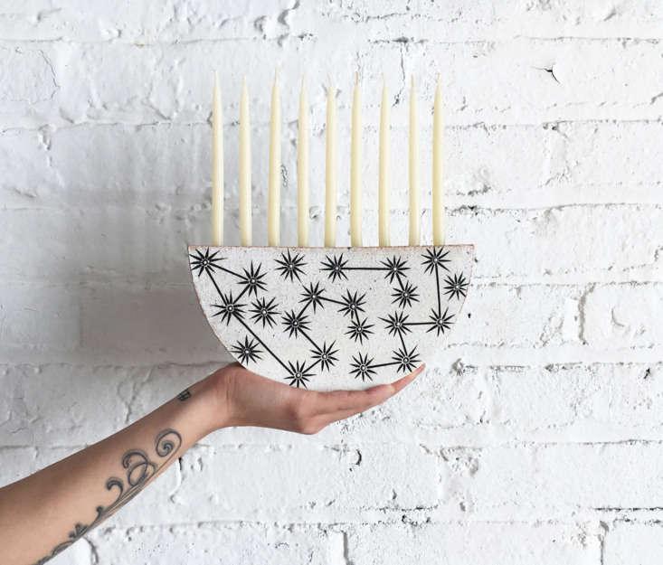 Hannukah starts December \10 this year. Margot presents her favorite handmade versions, including this Constellations Menorah from MQuan. See Handmade Hanukkah: 5 Favorite Menorahs for \20\20.