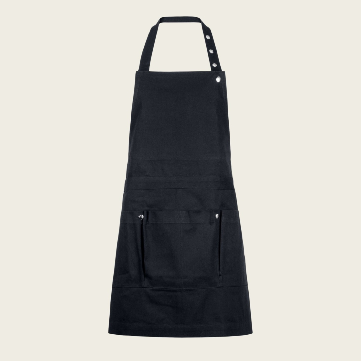 A must for potting and working out of doors: The Creative and Garden Apron (\$54) by The Organic Company is made from organic, hardy cotton canvas and features five pockets for keeping tools handy. It's available in dark green, clay, and black (shown).