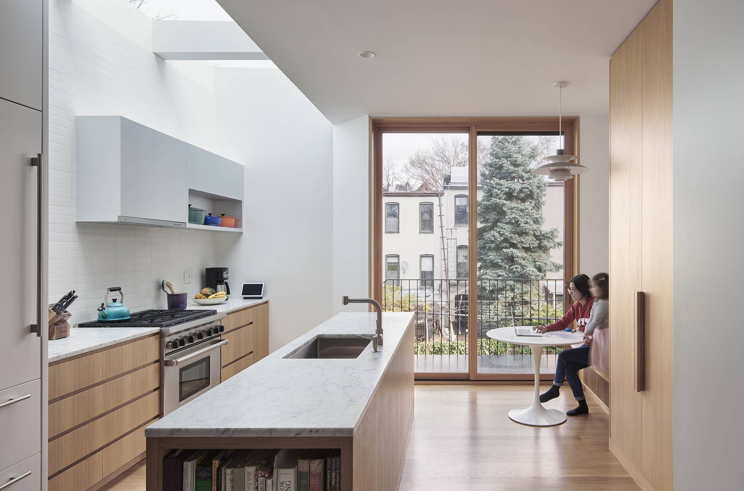 Of course, the best way to welcome spring in would be to open the windows. PhotographbyKevin Kunstadt, from Kitchen of the Week: A Client's Narrow Childhood Home in Park Slope Gets an Airy Addition.