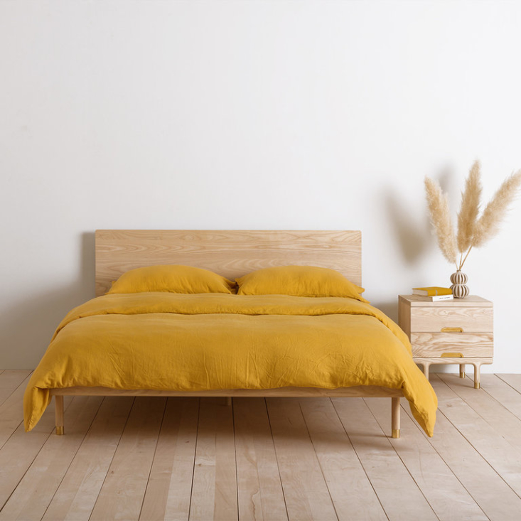 Ready-made for a sunny afternoon siesta. See  Easy Pieces: Essential Wooden Beds. Photograph via Kalon Studio.