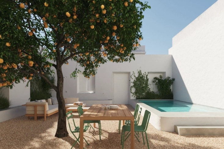 And finally, real lemons! See One, Two, Three Minimalist Guesthouses on the Coast of Portugal (Pools Included).