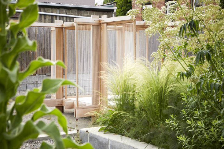 The teahouse was handmade with cedar, string, and paper. &#8\2\20;They had beautiful events around it, like a traditional tea ceremony and an Ikebana floral workshop,&#8\2\2\1; says Lindsey.