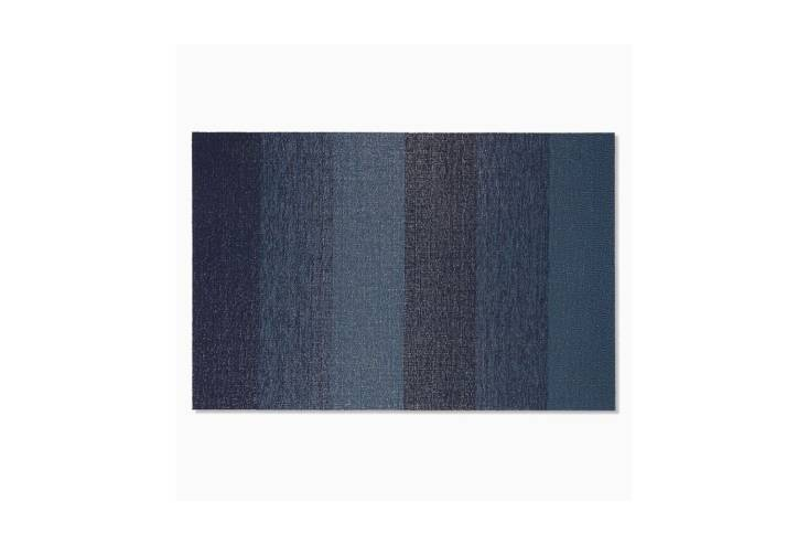 For a similar door mat, try Chilewich&#8\2\17;s Marbled Striped Shag Mat; \$85 for the \2 by 3 foot size at West Elm.