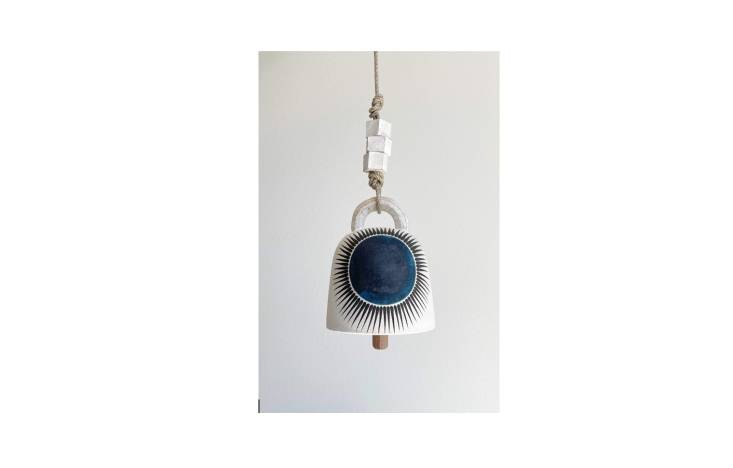 Ceramicist Michelle Quan&#8\2\17;s online store is currently closed while the team catches up with orders. Fortunately, her wares are sold elsewhere as well. MQuan Studio&#8\2\17;s New Sun Indigo Round Thrown Bell is \$\290 at Soleil Blue.