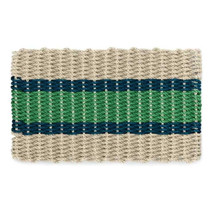 A preppy and jaunty Wicked Good Rope Doormat from New England Trading Co; from \$59.95.