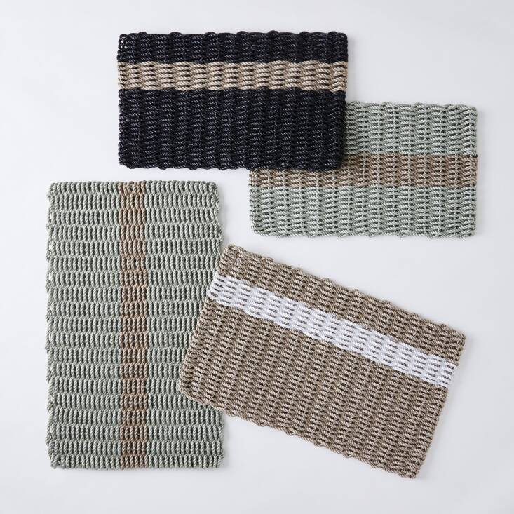And Food5\2 carries The Rope Co&#8\2\17;s Essential Stripe Doormat in multiple color combinations and three sizes; from \$59.