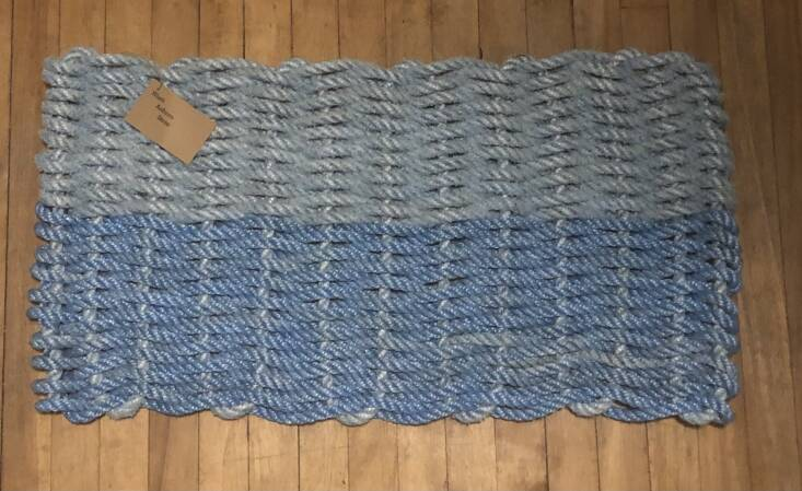 This Plain Maine Mat from Wash Ashore Store was made from line that &#8\2\20;was retired from Owls Head Lobster Co. and donated for upcycling in September \20\19&#8\2\2\1;; \$65.