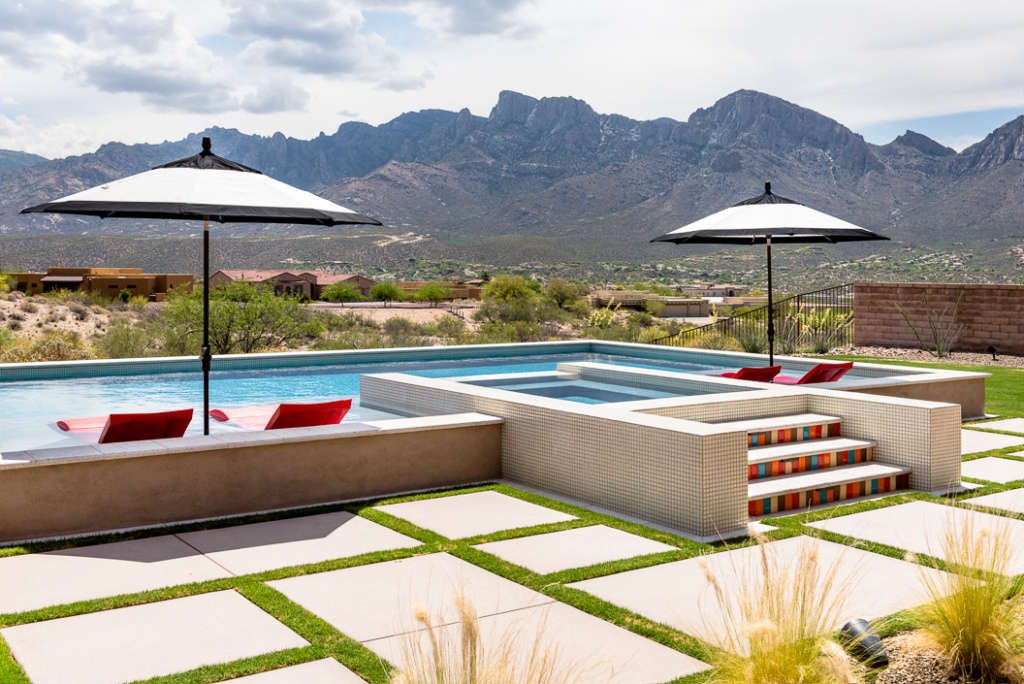 Pool and Spa View