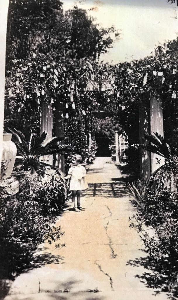Beverly Hall garden circa 1900