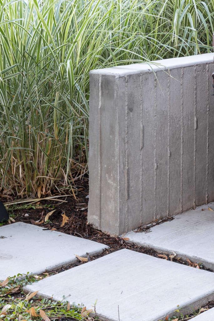 Custom board formed concrete wall