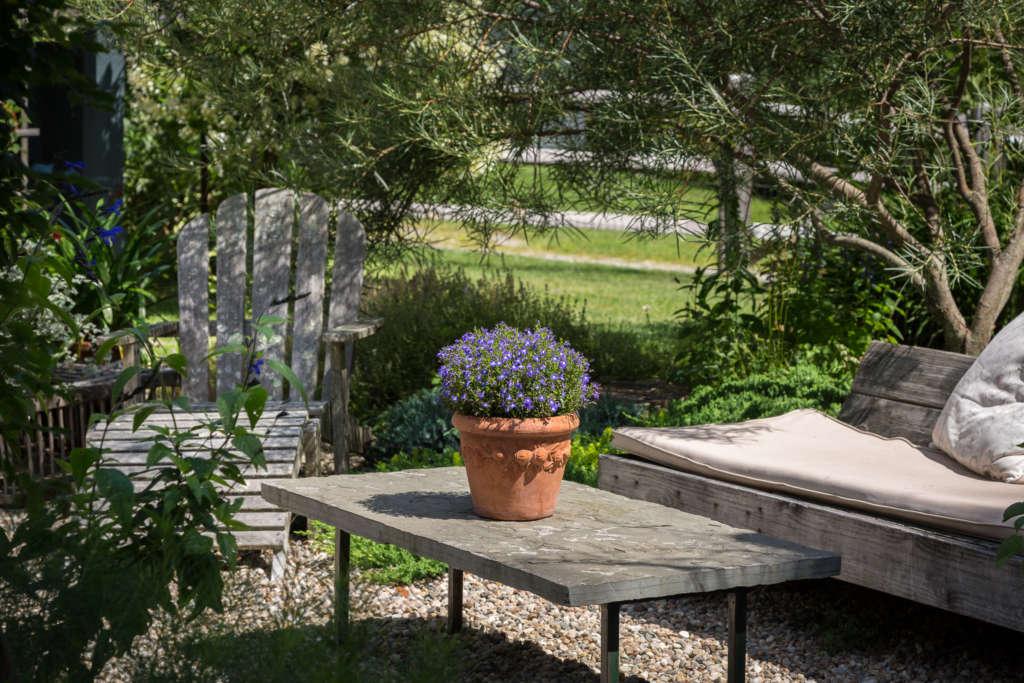 Seating entering the Vegetable garden by Ren Nickson