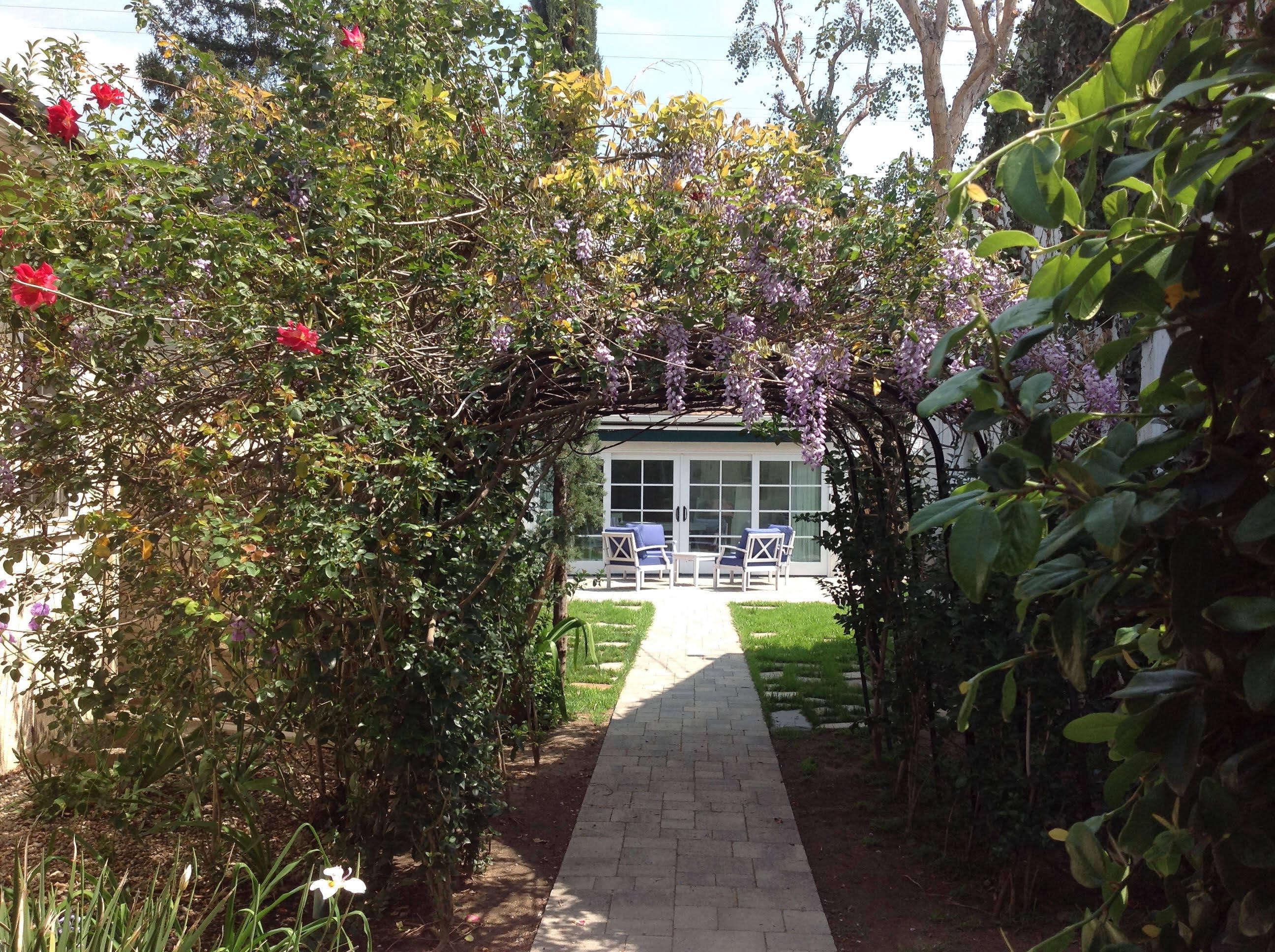 The walkway to the studio.