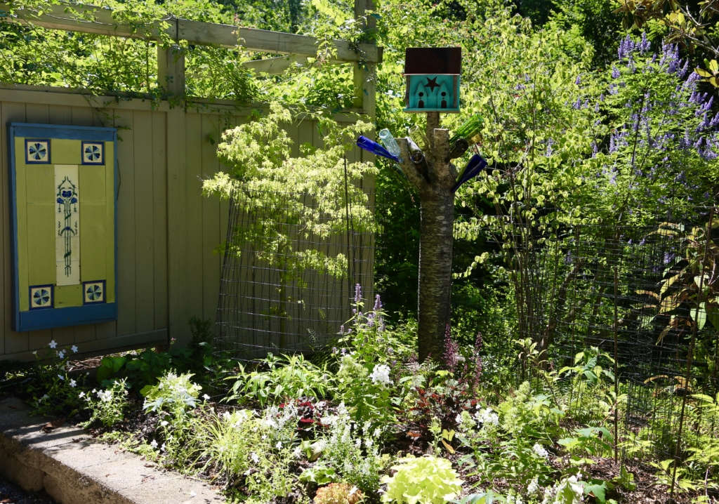Early summer at the entrance to our vegetable garden