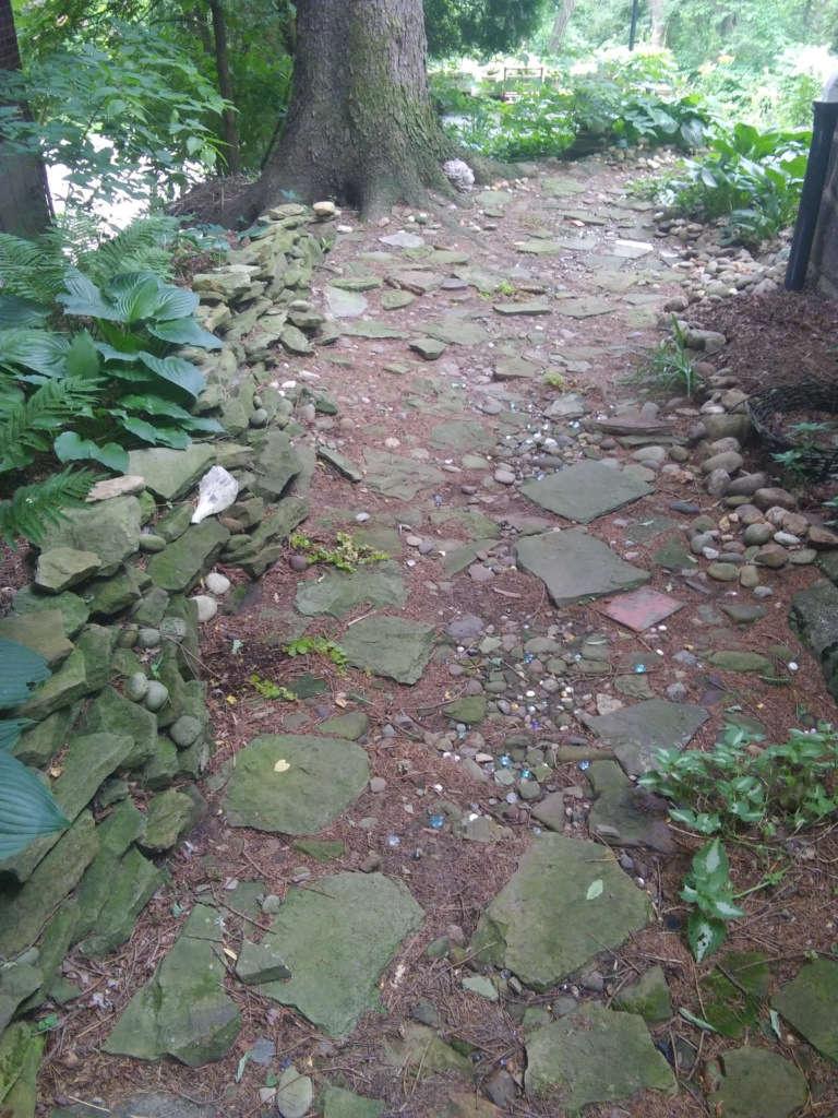 My fairy tale stone path