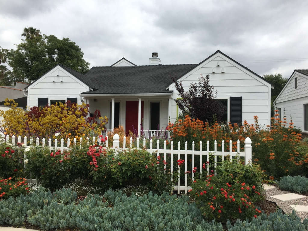 Contemporary California Cottage Garden - Front View