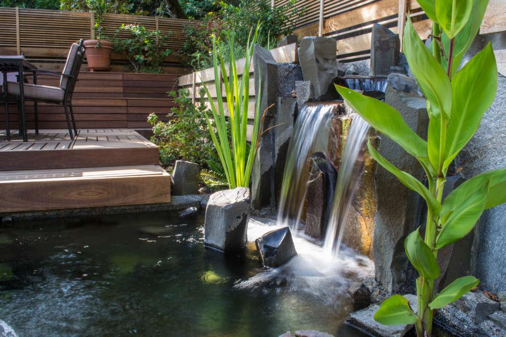 Koi Pond Waterfall