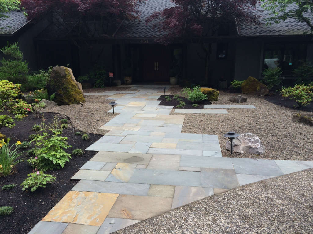 Bluestone Entry & Dry Garden