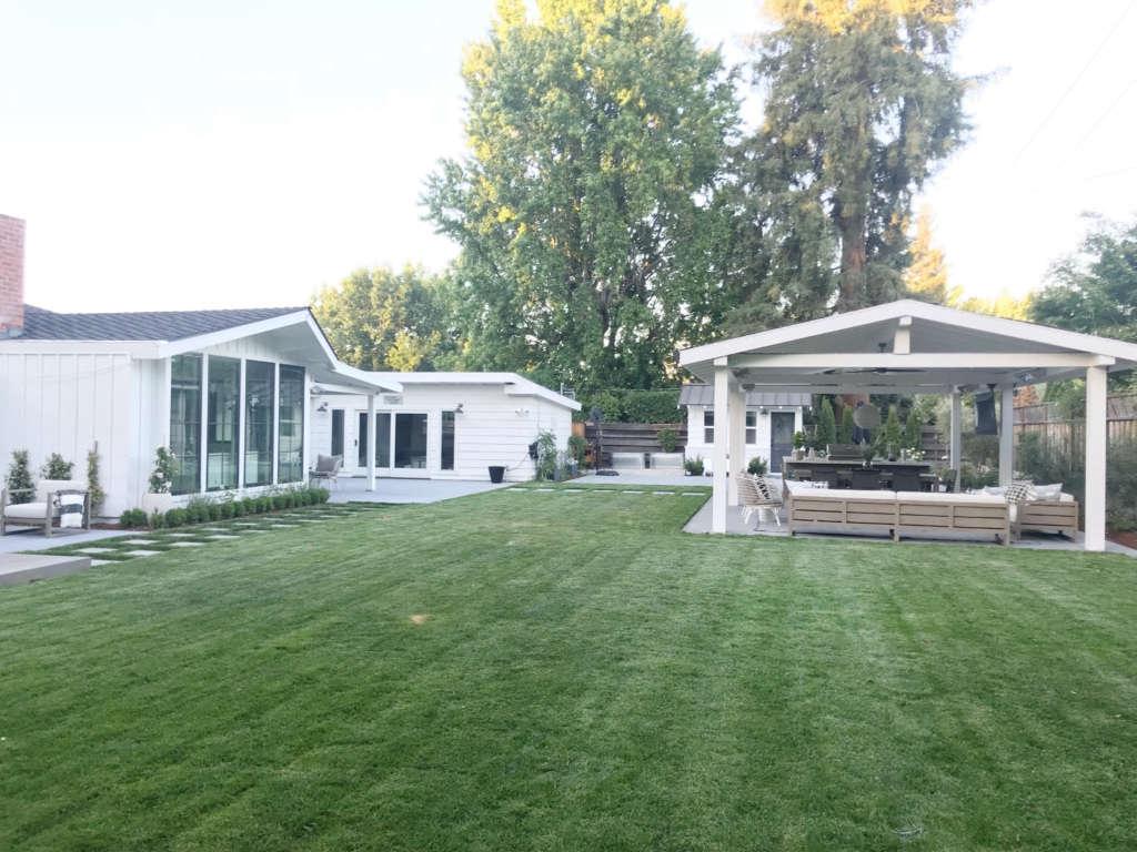 Full backyard view