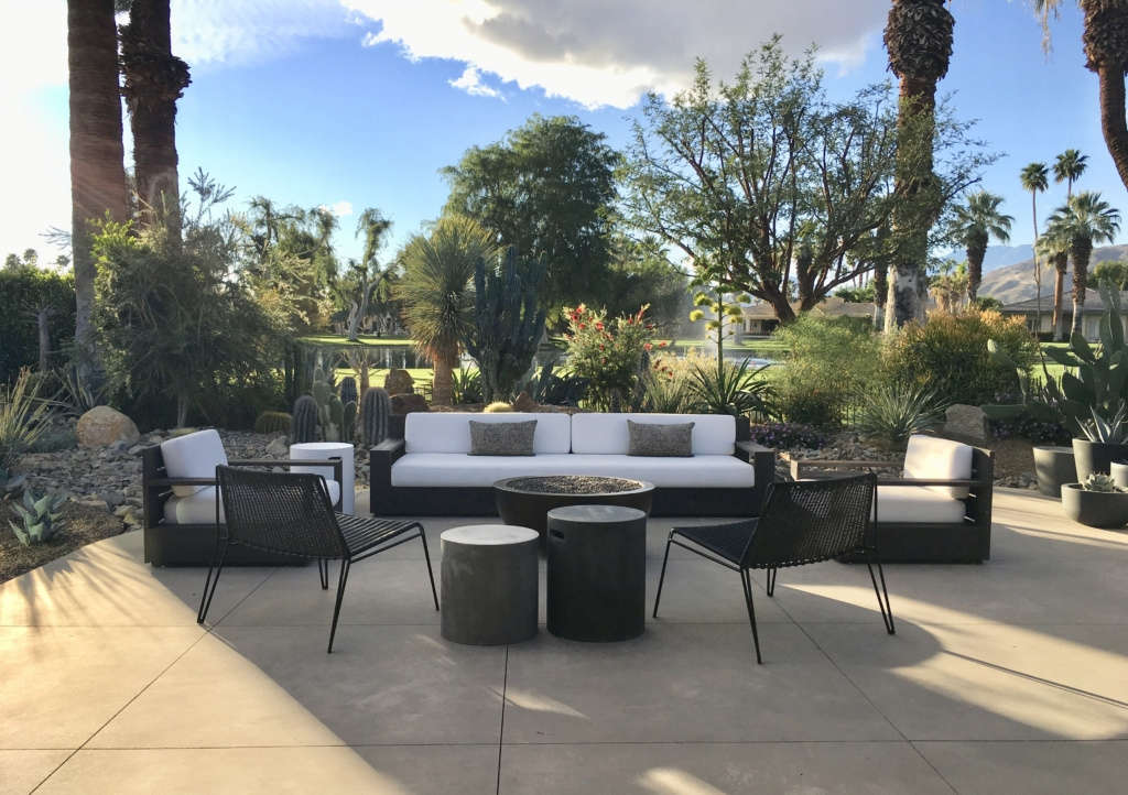 Patio Sitting Area with Firepit