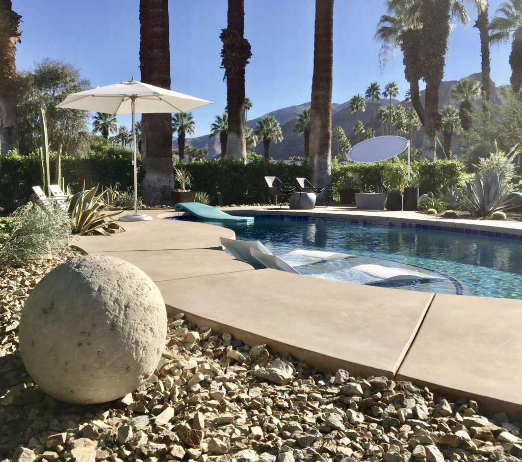 Renovated Pool with Desert Border