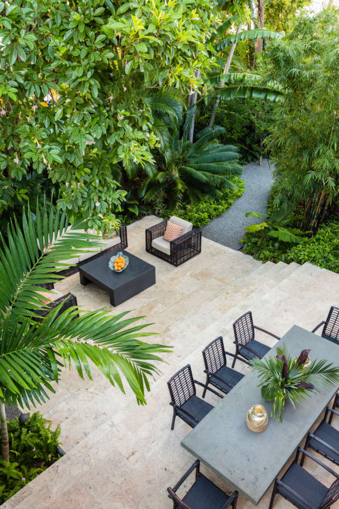 Modern Key West Outdoor Dining Area