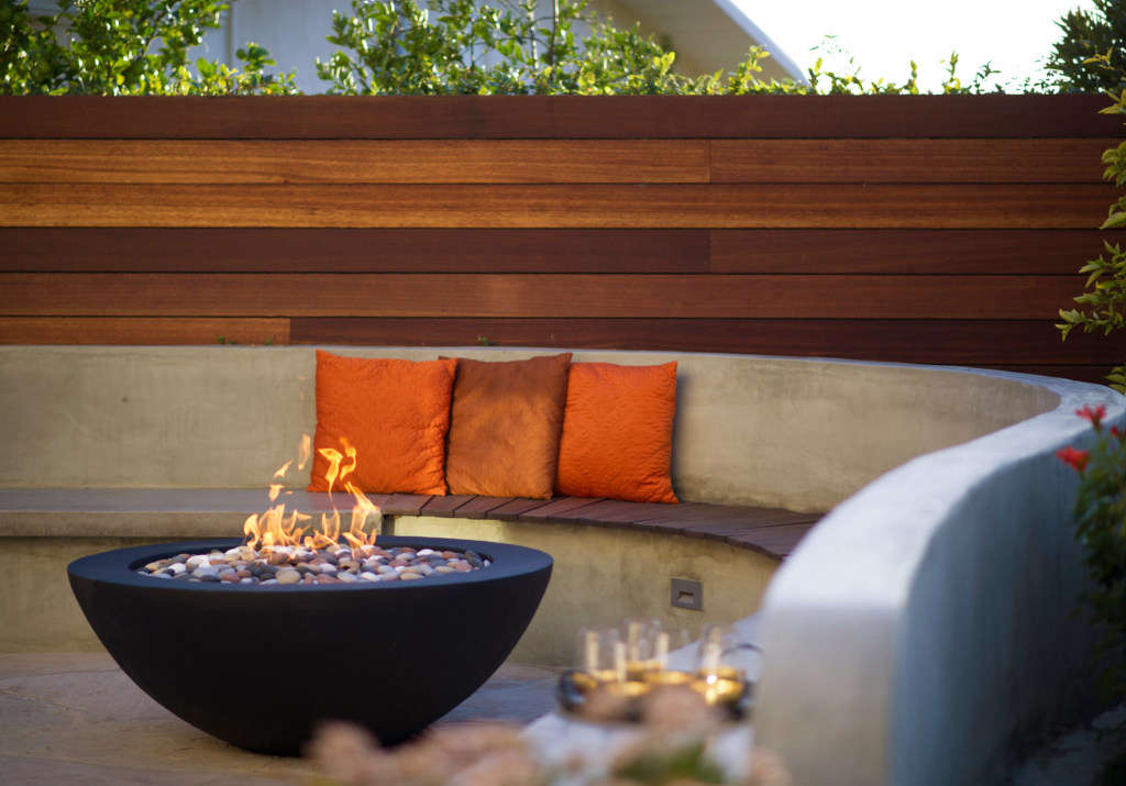 The Fire Bowl Nestles in the Curve of the Bench