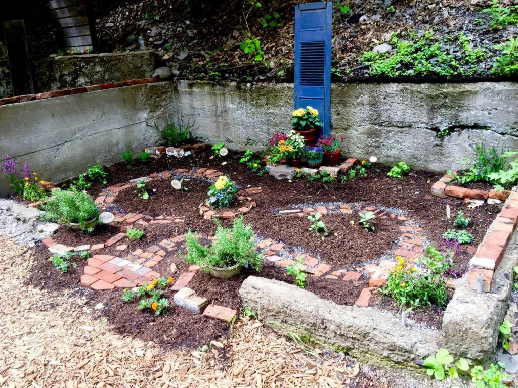 Glen Hollow herb garden